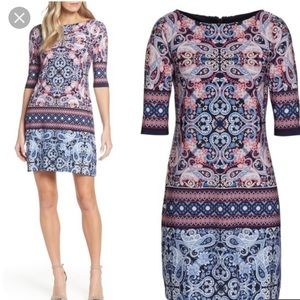 Eliza J Paisley shift dress worn once! EUC